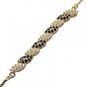 دستبند نقره طرح نگار زنانه
