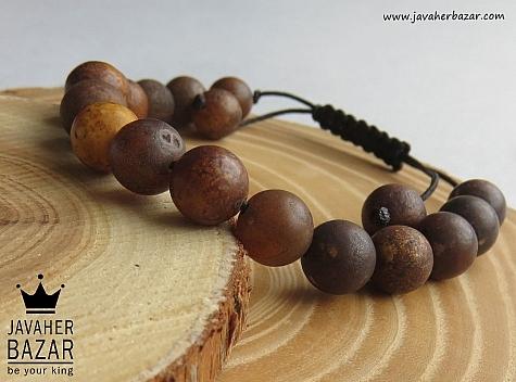 دستبند عقیق طرح چوب