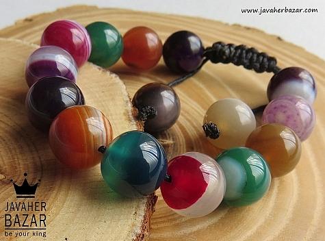 دستبند عقیق طرح نشاط زنانه