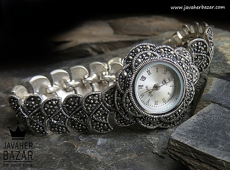 ساعت مچی نقره شیک و فاخر زنانه quartz - 48958