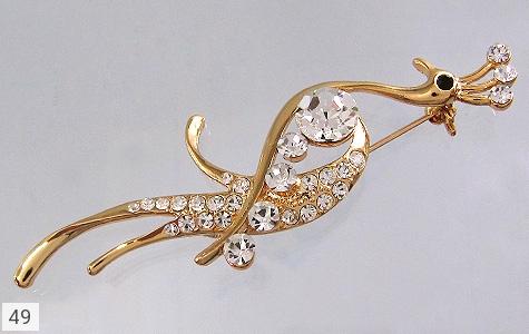 تصویر گل سینه طاووس زنانه - شماره 1