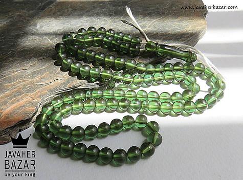 تسبیح سندلوس 101 دانه سبز خوش رنگ