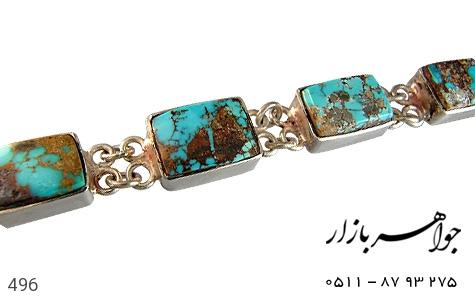 عکس دستبند فیروزه نیشابوری شجر زنانه