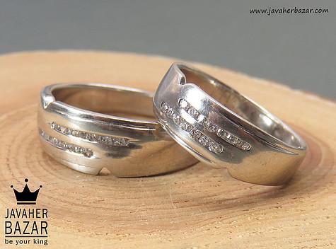 حلقه ازدواج نقره شیک
