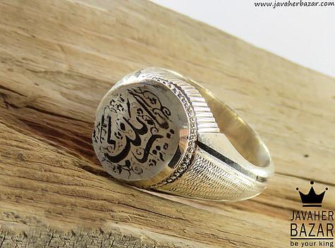 انگشتر نقره در نجف یا زینب مردانه دست ساز