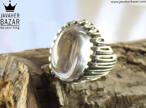 انگشتر نقره در نجف زلال و شیک مردانه