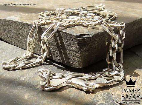زنجیر نقره 60 سانتی طرح فیگارو مردانه