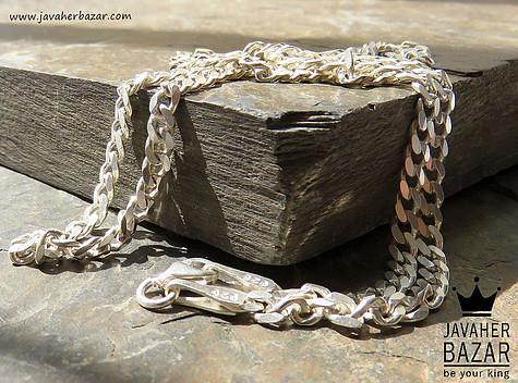 زنجیر نقره 56 سانتی طرح کارتیر جذاب