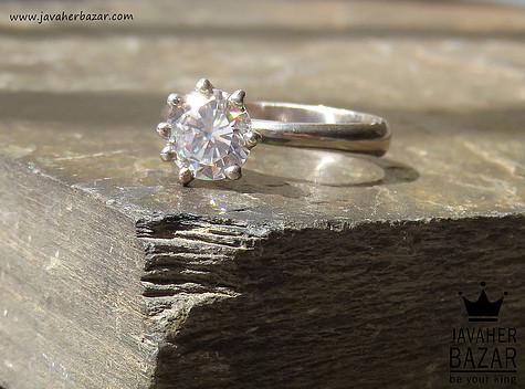 انگشتر نقره جواهرنشان زنانه
