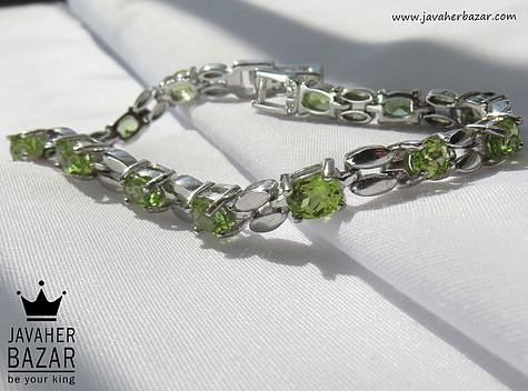 دستبند نقره زبرجد آفریقایی طرح سلطنتی زنانه