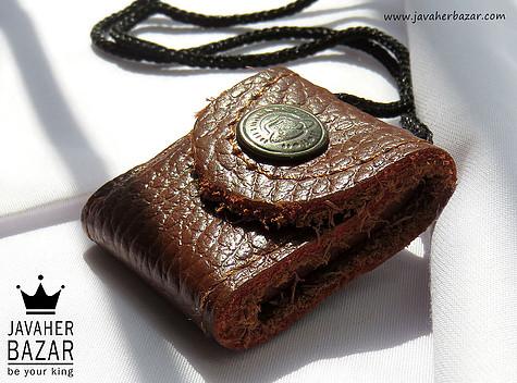 کیف چرم طبیعی همراه دعا های مذهبی