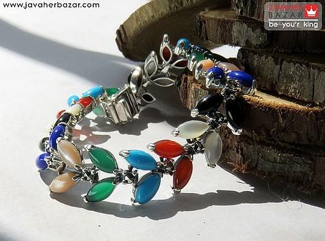 دستبند نقره عقیق مارکازیت برند هانگ جذاب زنانه