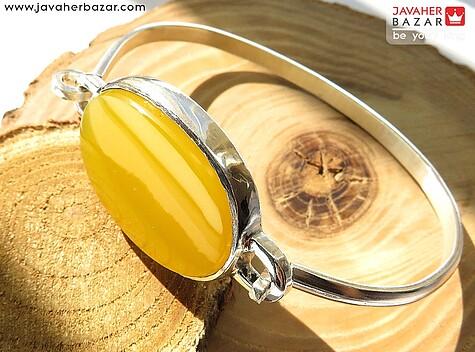دستبند نقره عقیق شرف الشمس مردانه - 53230