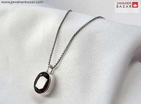 مدال نقره گارنت جذاب دست ساز