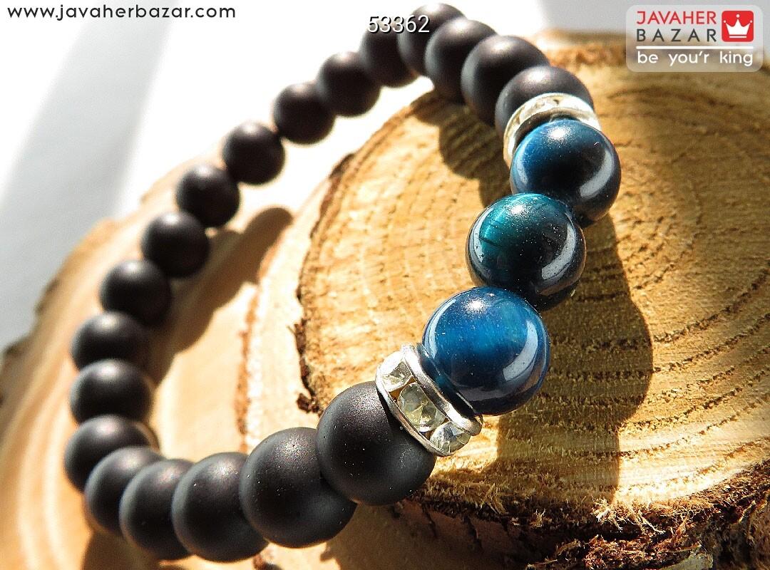 تصویر عکس خرید ، قیمت و خواص دستبند چشم ببر آبی مردانه اصل