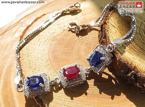 دستبند نقره یاقوت آفریقایی ارزشمند زنانه