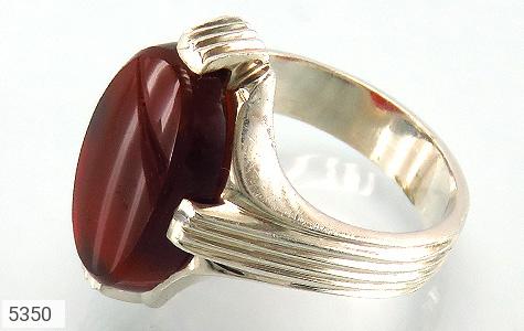 انگشتر نقره عقیق قرمز درشت دست ساز - 5350