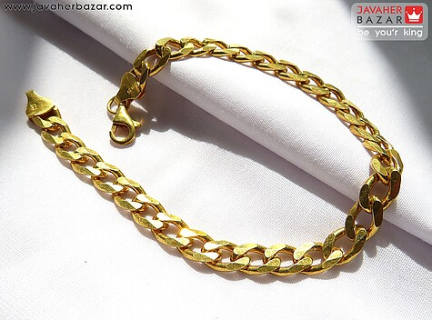 دستبند نقره روکش آب طلا زرد لاکچری