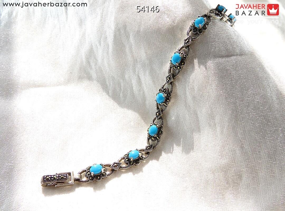 تصویر عکس خرید ، قیمت و خواص دستبند فیروزه سیاه زنانه اصل