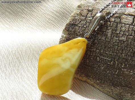 مدال نقره کهربا بولونی لهستان استخوانی