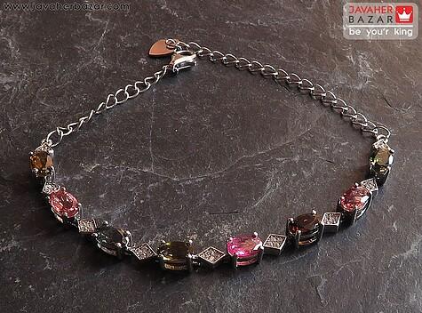 دستبند نقره تورمالین فاخر زنانه