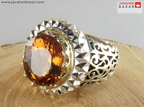انگشتر نقره الکساندریت زولتنایت مردانه دست ساز