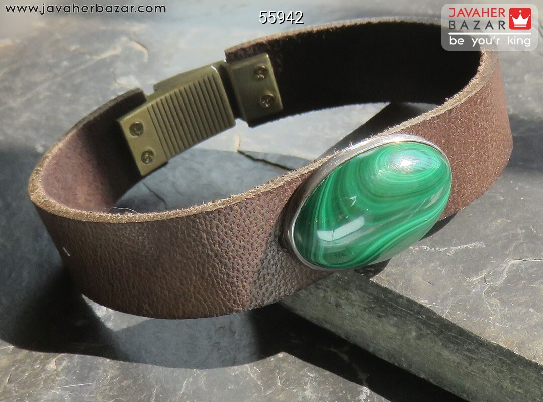 تصویر عکس خرید ، قیمت و خواص دستبند مالاکیت مردانه اصل