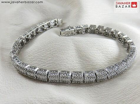 دستبند نقره جواهری امرالد کات زنانه