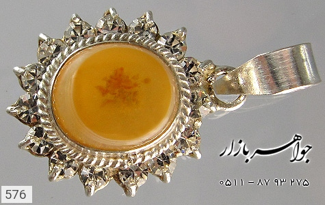 عکس مدال نقره عقیق باباقوری زنانه