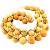 تسبیح 33 دانه پودر کهربا استخوانی خوش نقش