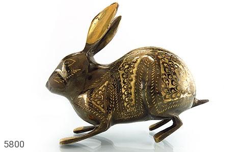 عکس تندیس برنج دست ساز طرح خرگوش بزرگ