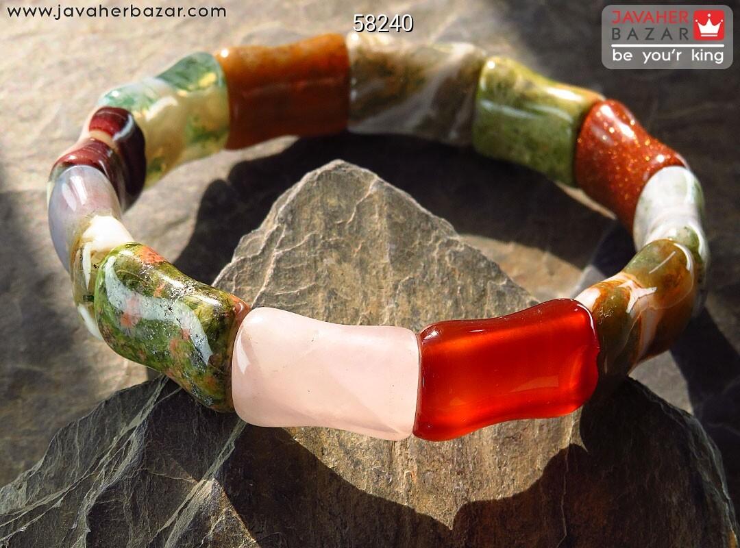 تصویر عکس خرید ، قیمت و خواص دستبند عقیق قهوهای مردانه اصل