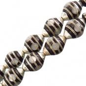 تسبیح صدف و نقره و کوک (کشکول) 33 دانه سوپر دست ساز مصری