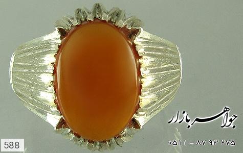 انگشتر نقره عقیق اثر استاد رحمانی مردانه دست ساز - 588
