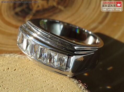 انگشتر تیتانیوم جواهری سایز 52 و 57 و 60 زنانه