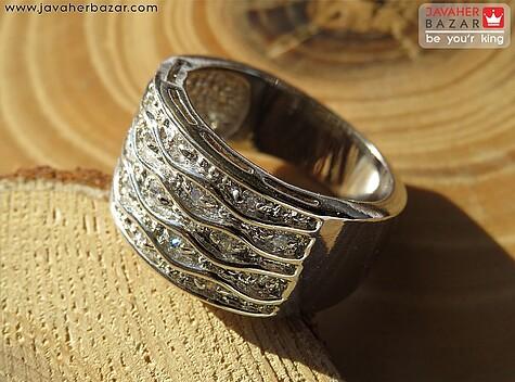 انگشتر تیتانیوم جواهری سایز 52 و 54 و 56 و 57 زنانه