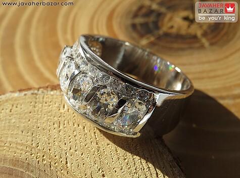 انگشتر تیتانیوم جواهری سایز 54 و 59 زنانه