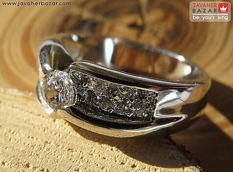 انگشتر تیتانیوم جواهری سایز 54 و 57 زنانه