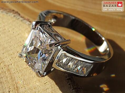 انگشتر تیتانیوم جواهری سایز 56 و 59 زنانه