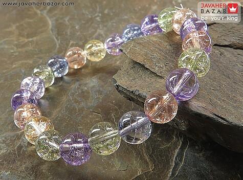 دستبند کریستال برزیلی خوش رنگ زنانه