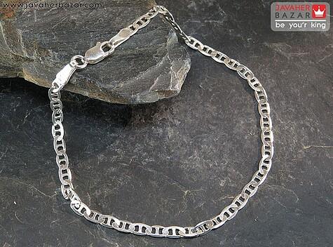 دستبند نقره طرح T مردانه