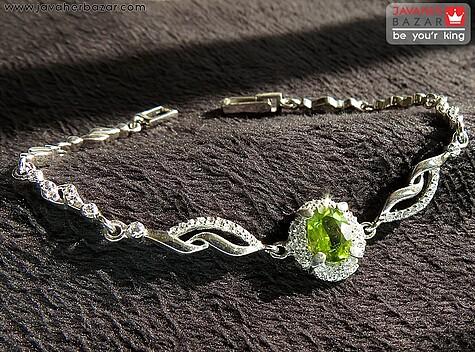 دستبند نقره زبرجد آفریقایی مرغوب و شیک زنانه