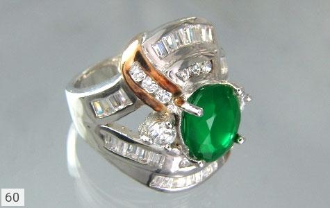 انگشتر نقره تایلندی 2 رنگ زنانه - 60