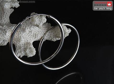 گوشواره نقره حلقه متوسط