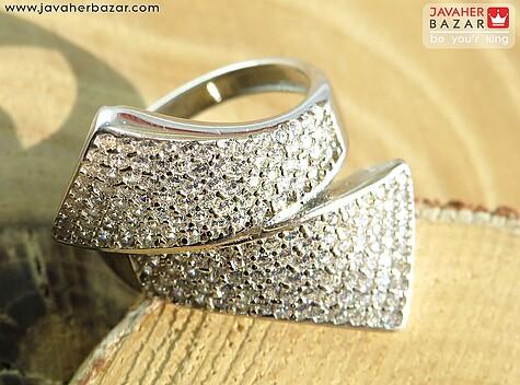 انگشتر نقره جواهری خاص زنانه