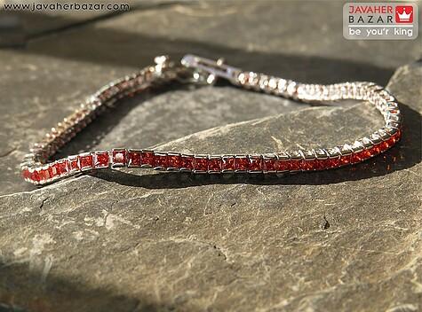 دستبند نقره طرح پرنسسی زنانه