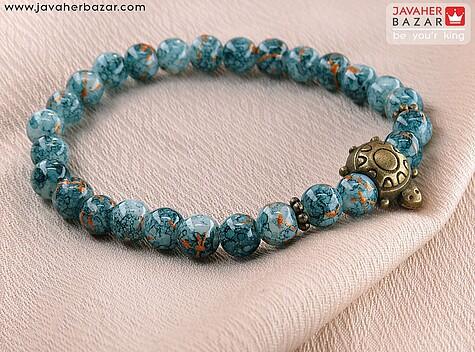 دستبند آبی طرح های متنوع زنانه