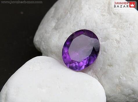 نگین تک آمتیست الماس تراش