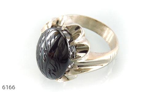 انگشتر نقره حدید هفت جلاله درشت مردانه - 6166