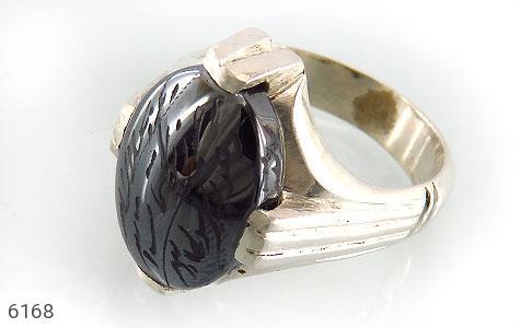 انگشتر نقره حدید سینی 7جلاله دست ساز درشت مردانه دست ساز - 6168